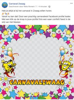 Een vrolijk gezicht op Facebook