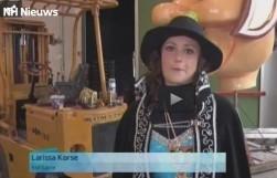 Larissa schitterd op RTV-NH