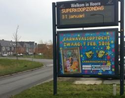 Carnaval Zwaag op RadioNL en Cityboards