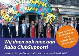 Steun het Carnaval in Zwaag met Rabo ClupSupport
