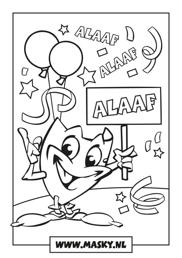 Kleurplaten Van Prins Carnaval.Masky Is De Mascotte Van Carnaval Zwaag